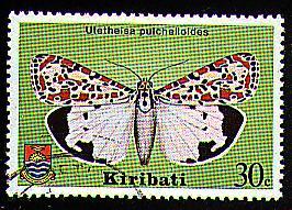 Utetheisa pulchelloides stamp